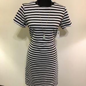 NWT Old Navy Black/White Striped Sheath Dress